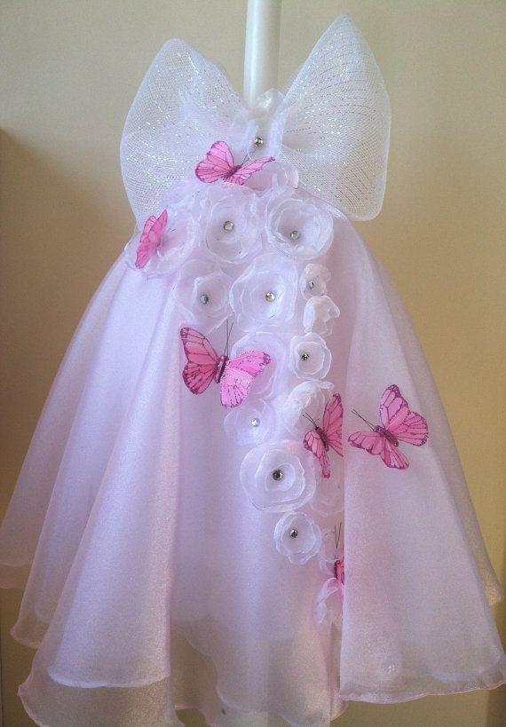 Flutter of Butterflies Girls Baptism by MyLittleDetailsShop, $130.00
