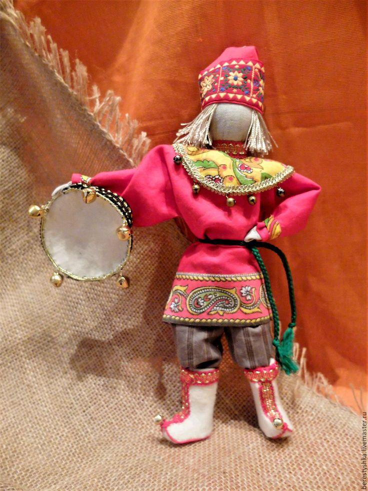 Купить Скоморох - авторская кукла, русская кукла, новогодний подарок, подарок в русском стиле