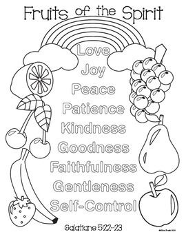 fruits of spirit coloring pages - photo#13