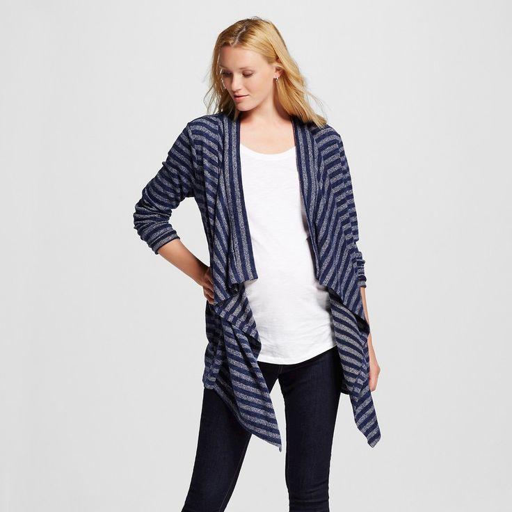 Maternity Open Layering Tonal Stripe Cardigan Blue XS - Liz Lange for Target, Women's