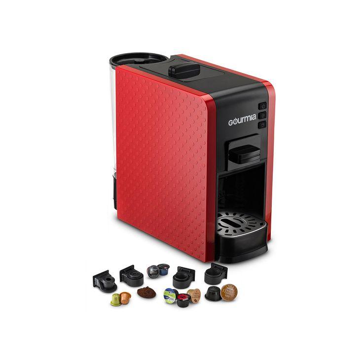 Gourmia Espresso Machine & Single Serve Pod Coffee Maker, Red