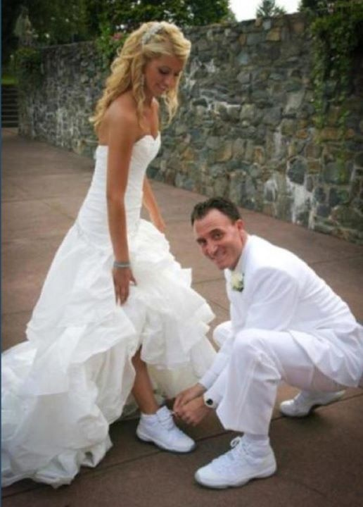 What a cute photo especially the anniversary 11s on your very special day..