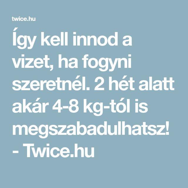 Így kell innod a vizet, ha fogyni szeretnél. 2 hét alatt akár 4-8 kg-tól is megszabadulhatsz! - Twice.hu