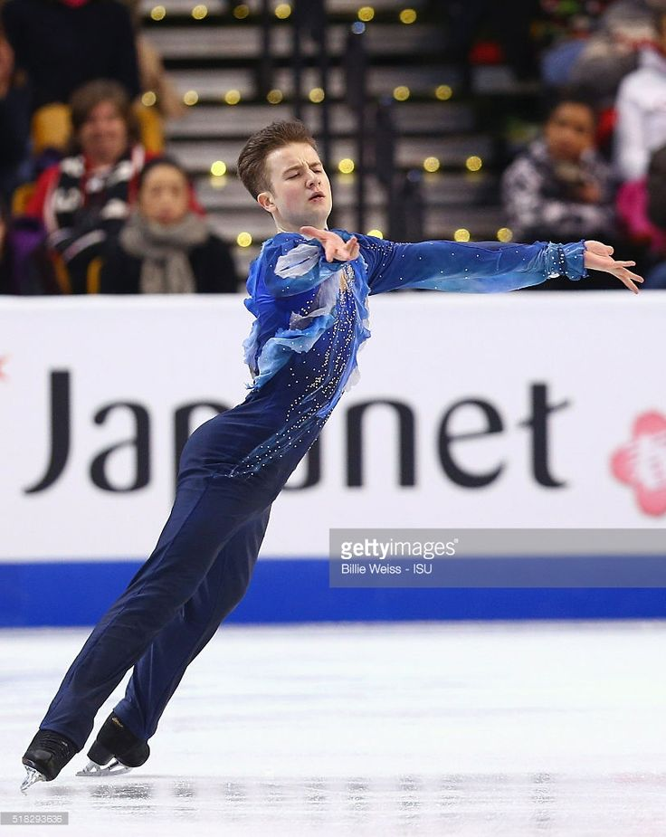 Misha Ge of Uzbekistan competes during Day 3 of the ISU World Figure Skating Championships 2016 at TD Garden on March 30, 2016 in Boston, Massachusetts.