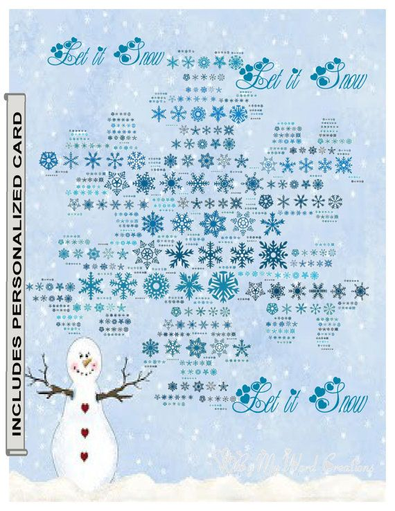 Handmade Personalized Christmas Snowflake Let by ByMyWordCreations