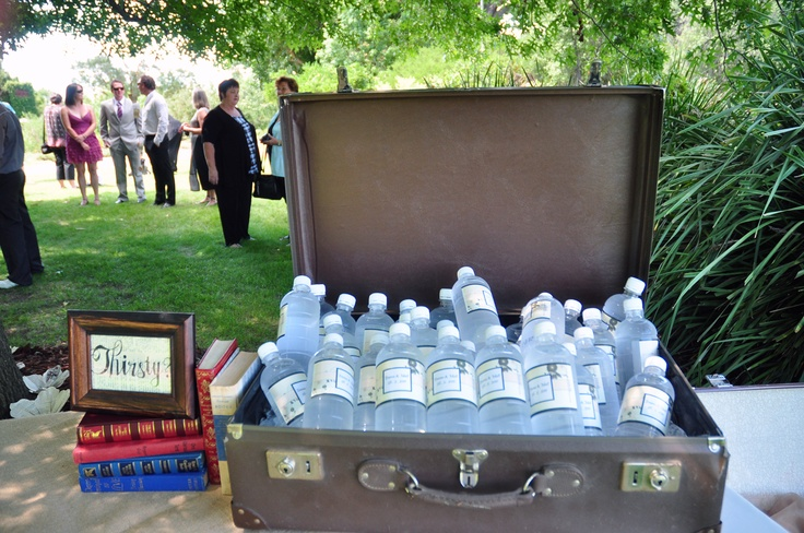 A great hot summer gesture for guests at a wedding at All Saints Estate winery
