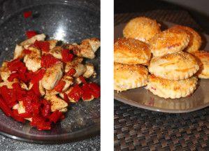 Feuilletés au poulet et poivron grillé2