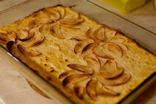 Запеканка с яблоками: правильные вкусняшки для талии!  🔸на 100грамм - 117.66 ккал🔸Б/Ж/У - 4.54/5.96/11.07