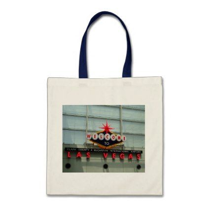 Welcome to Las Vegas Airport Sign Tote Bag - accessories accessory gift idea stylish unique custom