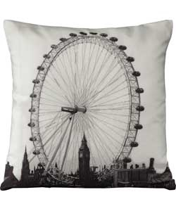 Living London Eye Embroidered Cushion - 43x43cm.