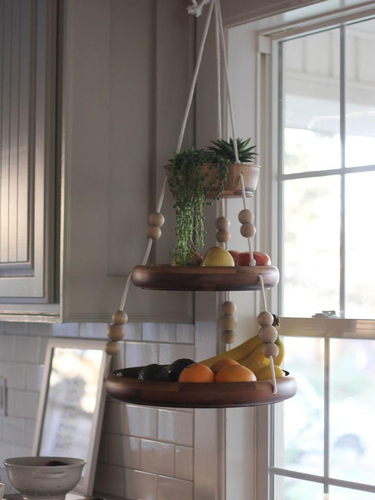 Wooden Hanging Fruit Basket   DIY