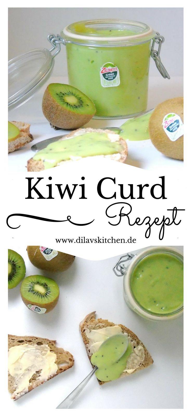 Lemoncurd, Rhabarbercurd, Orangencurd... der cremige Aufstrich kommt mit vielerlei Geschmäcker daher. Bei mir heute zum Beispiel mal in schickem Grün mit leckerer Kiwi. So schmeckt der Frühling <3