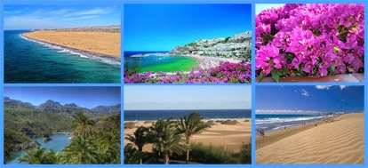 Gran Canaria Gran Canaria liegt westlich vor der Küste Südmarokkos im Atlantik. Sie ist eine Vulkaninsel, die zu Spanien gehört. Gran Canaria ist vor allem im Winter ein beliebtes Urlaubsziel für Europäer. Die Temperaturen liegen in den Wintermonaten bei circa 20 Grad.