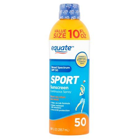 Equate Sport Continuous Spray Sunscreen, SPF 50, 10 fl oz