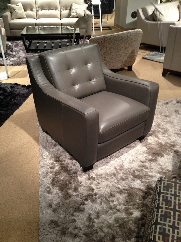 Another View Of This Great Grey Leather Chair By HTL Furniture. // Www.