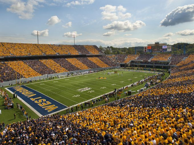 "10 Best ""Southern"" College Football Experiences - Though West Virgina University's stadium holds only 60,000 spectators, it qualifies as the largest city in the state of West Virginia on game days."