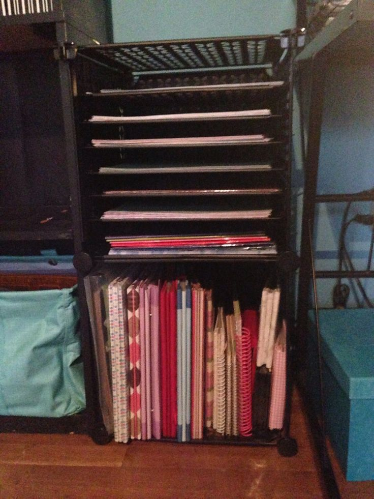 45 Best Images About Scrapbook Paper Storage Rack On