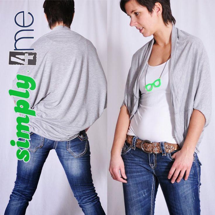 SIMPLY4me • Bolerojacke Bolerojäckchen • Nähanleitung + Schnittmuster • nähen • sewing pattern • bolero jacket