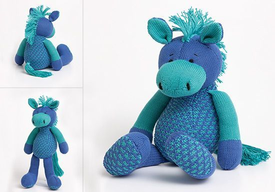 Knitting Toys Patterns Free : Free knitting pattern horse toy by patons makeitcoats