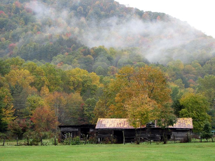 Foggy Fall Corral In Maggie Valley Nc Photobykat Country