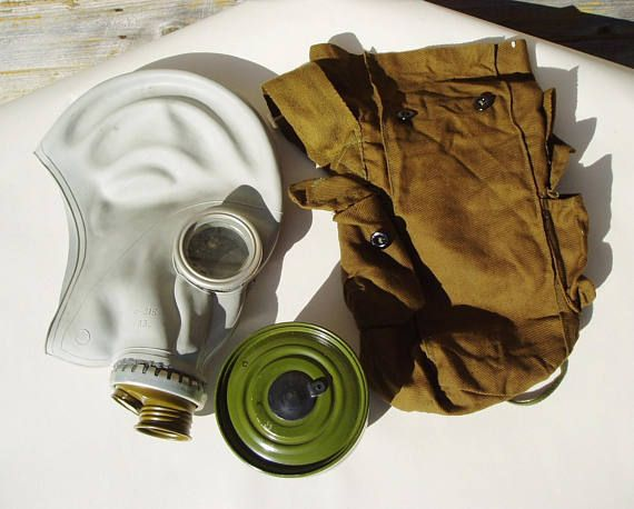 Russian Gas Mask GP 5 Soviet Union Cold War Army Surplus