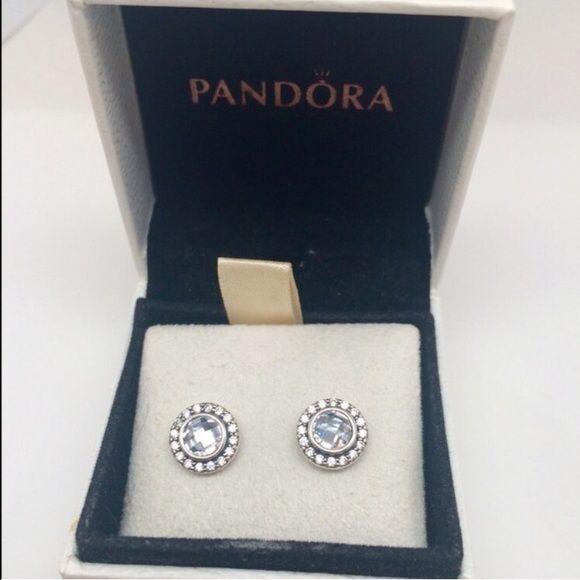 Pandora Brilliant Legacy earrings clear cz New pandora earrings Pandora Jewelry
