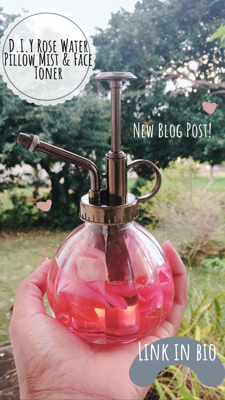 DIY Rose Water Pillow Mist & Face Toner – Pulled From Her Carriage