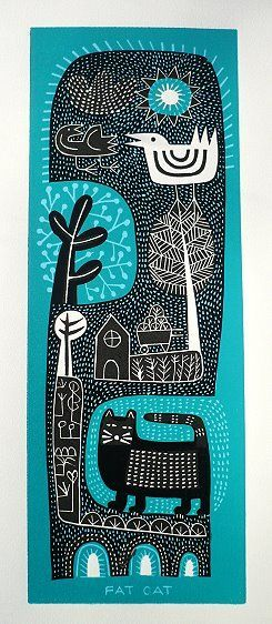 Fat cat by Hike Macintyre is simply naive by the strength in composition and shape design make the work alluring
