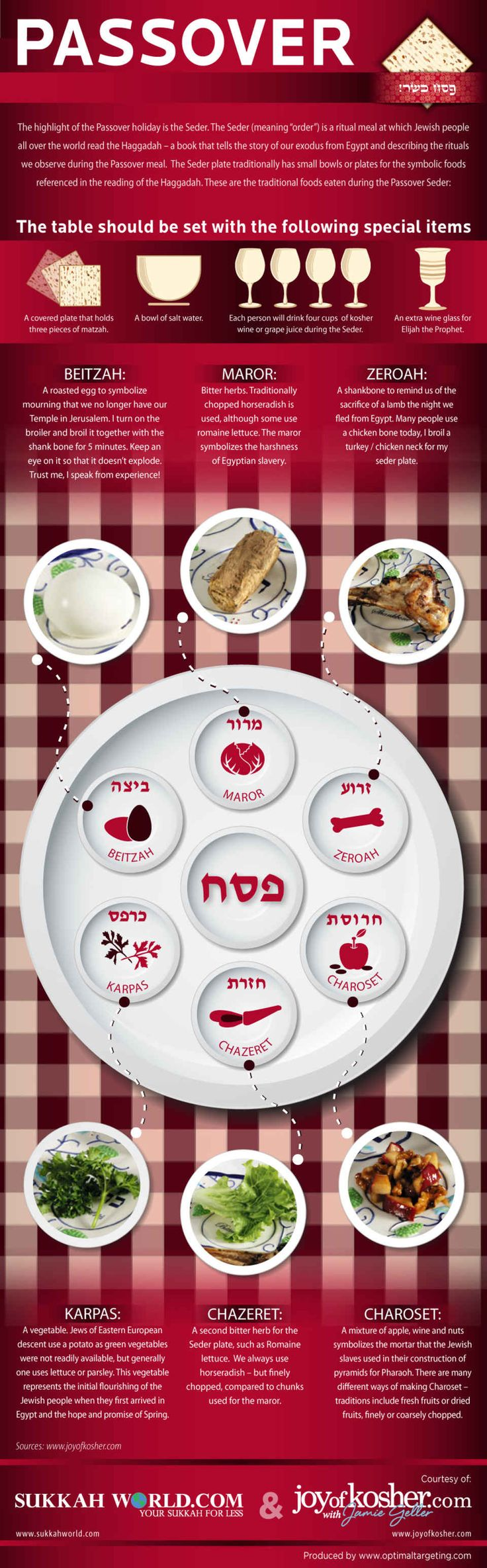 Seder Plate Infographic