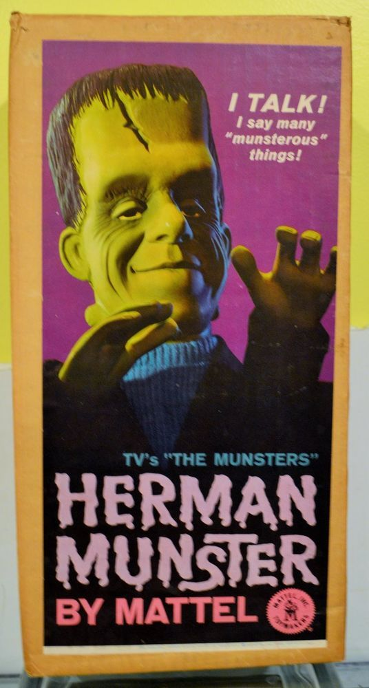"Mattel Herman Munster 21"" Talking Doll W/ BOX !!!!"