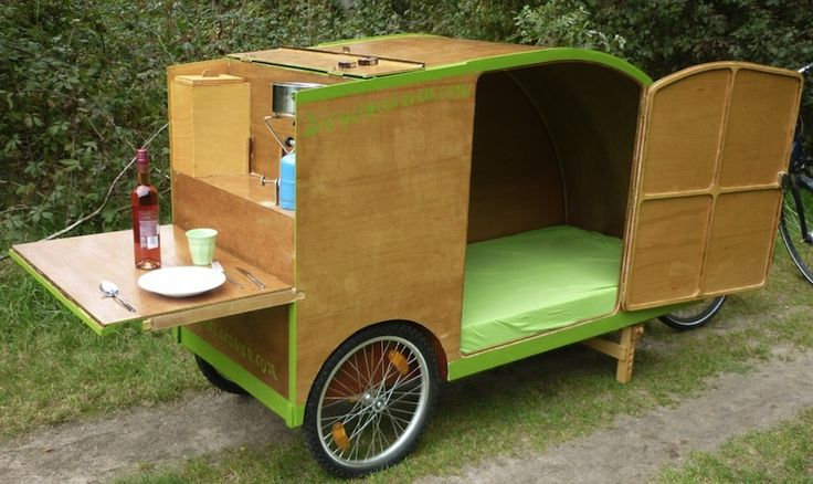 bicycle caravan tiny house plan pinterest bicycling. Black Bedroom Furniture Sets. Home Design Ideas