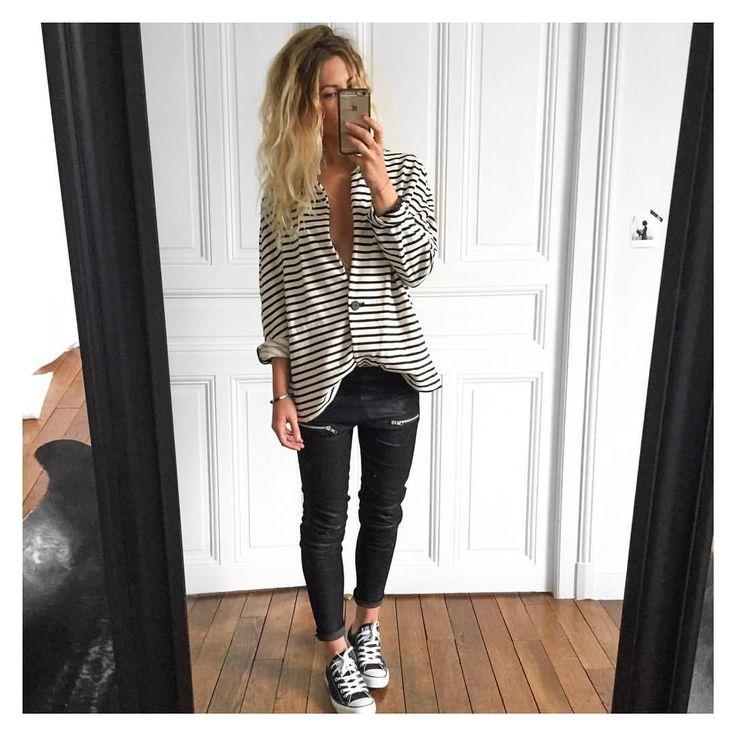 """@meleponym auf Instagram: """"Conclusion de la journée: Cheveux pourris & pieds trempés...✔ veste #Zara sur @Zara cuir Erin #eponymcreation sur @meleponym ( coming soon) baskets #converse sur @converse #ootd"""""""
