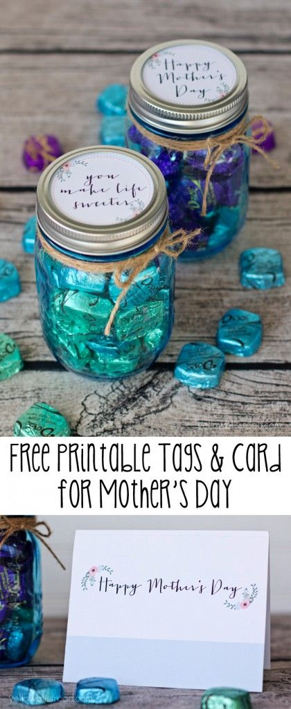 This Free Printable Tag and Card set is perfect for Mother's Day gifts! #yearofcelebrations