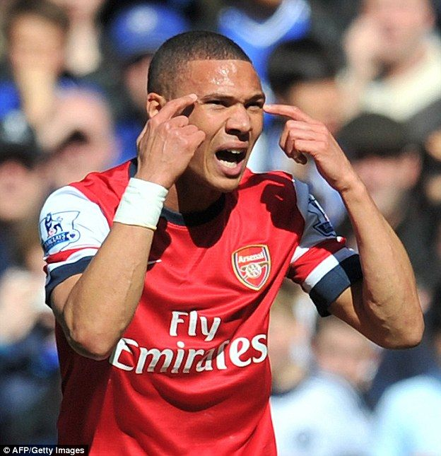 Kieran Gibbs was mistakenly sent off as Arsenal crashed 6-0 at Chelsea in March 2014