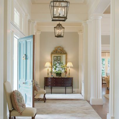 Traditional home columns design ideas pictures remodel for Traditional foyer decorating ideas