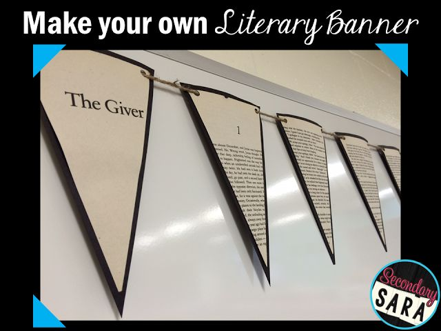 Secondary Sara: Literary Banners: English Classroom Craft