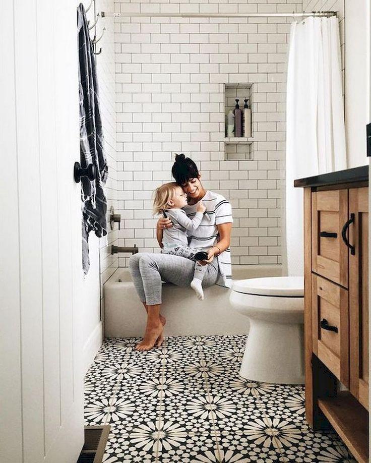 77 Einfache Und Moderne Bauernhaus Badezimmer Dekor Ideen