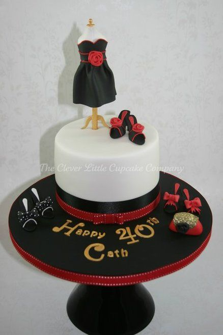 40th Birthday Cake Fashion Cakes Pinterest 40th