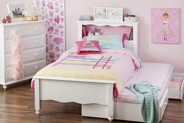 kinderbett f r m dchen sch n funktional oder modern. Black Bedroom Furniture Sets. Home Design Ideas