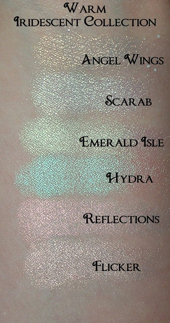 WARM Iridescent Eyeshadow Collection 6 Colors by SpectrumCosmetic, $22.00