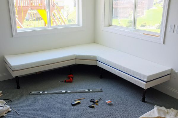 Banquet Bench with Furniture Legs DIY