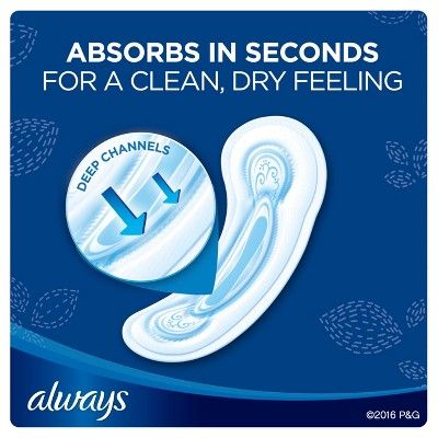 Always Overnight Non-Wing Maxi Pads - 28 Count
