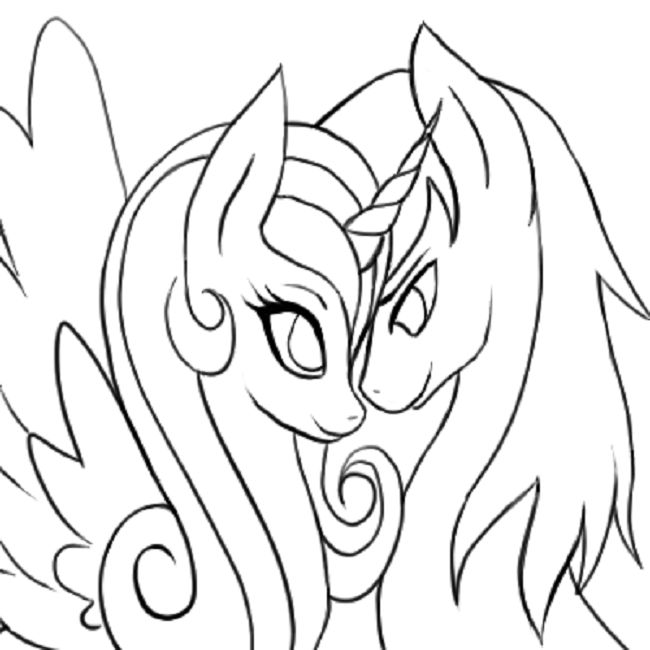 Princess Cadence And Shining Armor Coloring Pages Coloring