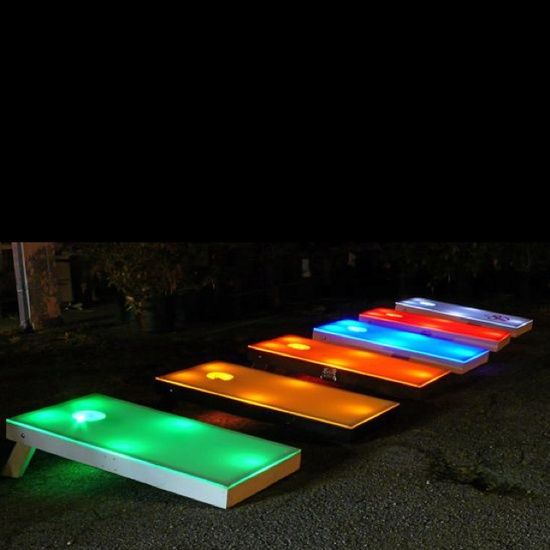 night time corn hole?? YES!!