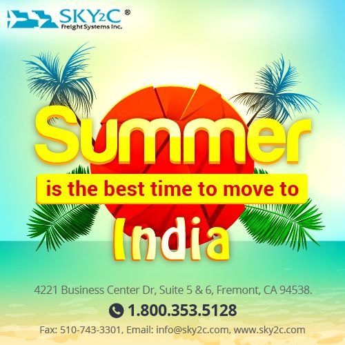 Worried about moving back to India? Sky2C offers door to door shipping service to India from USA at affordable rates.