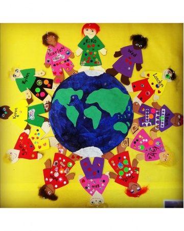 Remembrance day craft/bulletin board idea: Peace Around the World