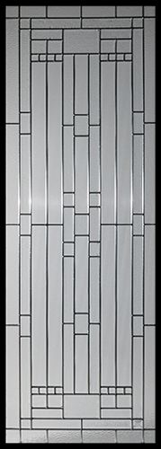 Stained Glass Door Inserts - Waterfall 22x64 Patina