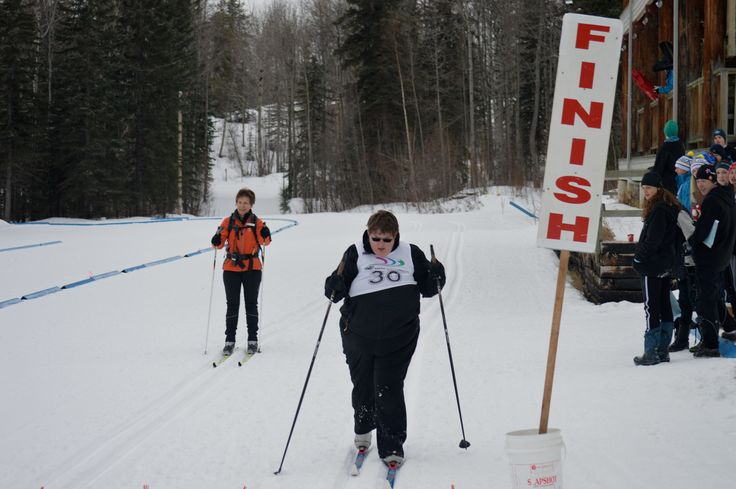 Crossing the finish line!!