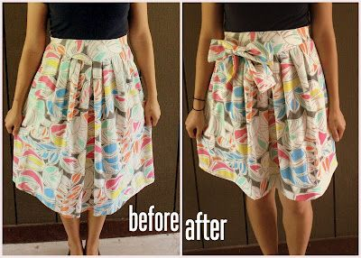 DIY skirt refashion + lots of other tweaks to goodwill clothes