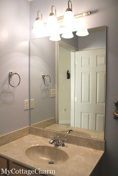How to add molding to mirrors